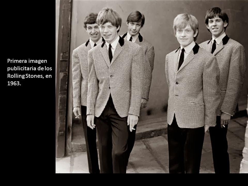 Primera imagen publicitaria de los Rolling Stones, en 1963.