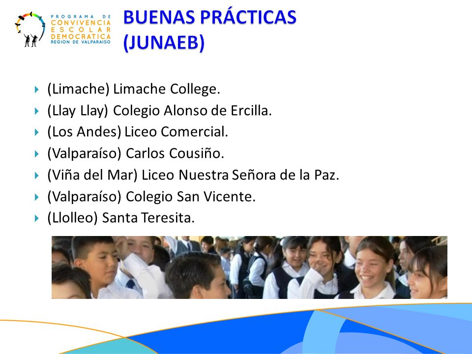 BUENAS PRÁCTICAS (JUNAEB) (Limache) Limache College.