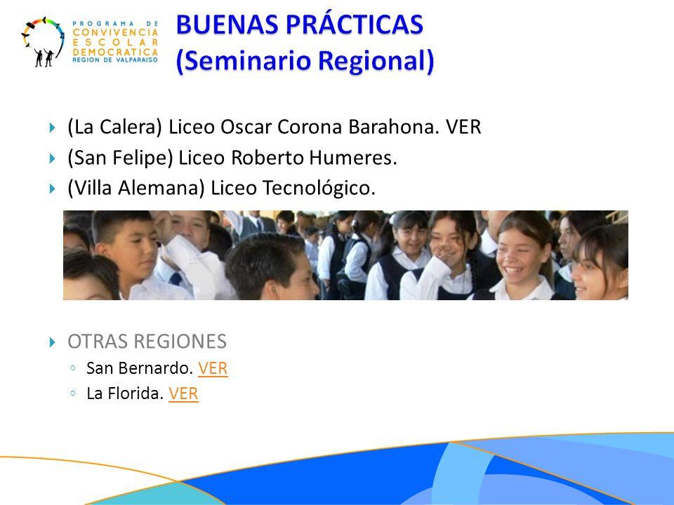 BUENAS PRÁCTICAS (Seminario Regional)