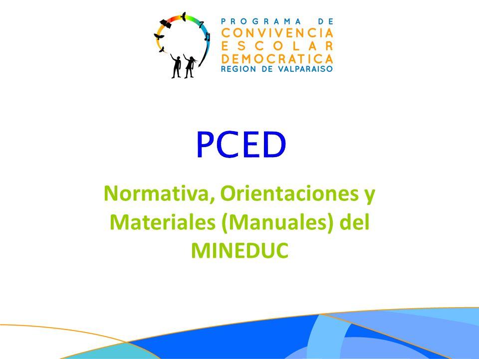 Normativa, Orientaciones y Materiales (Manuales) del MINEDUC