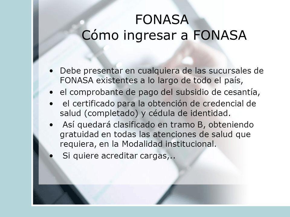 FONASA Cómo ingresar a FONASA