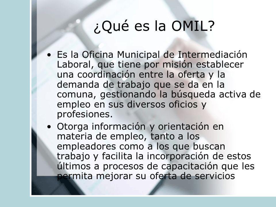 ¿Qué es la OMIL