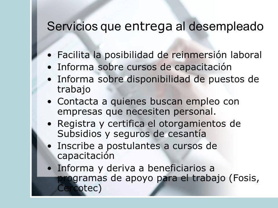 Servicios que entrega al desempleado