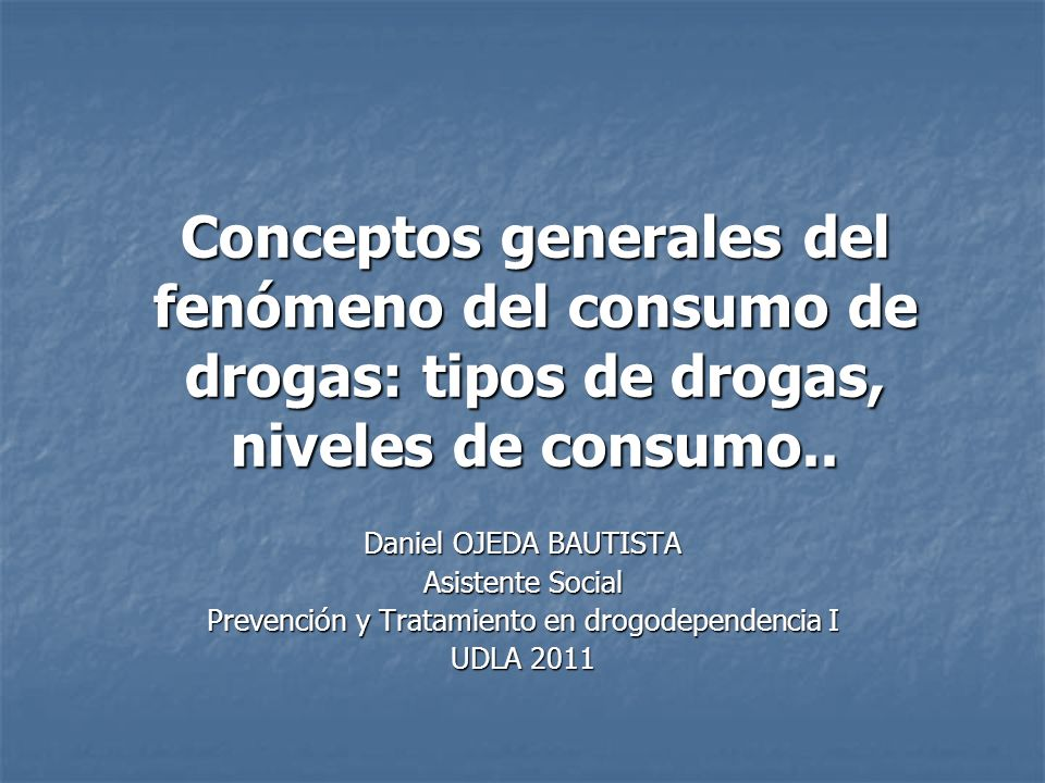 Prevención y Tratamiento en drogodependencia I