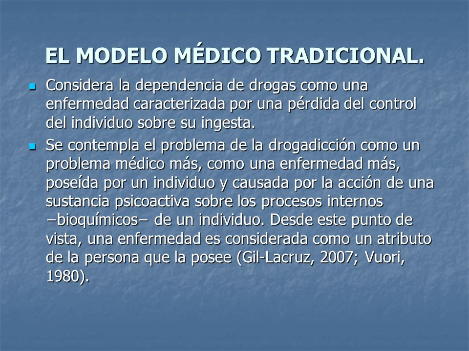 EL MODELO MÉDICO TRADICIONAL.