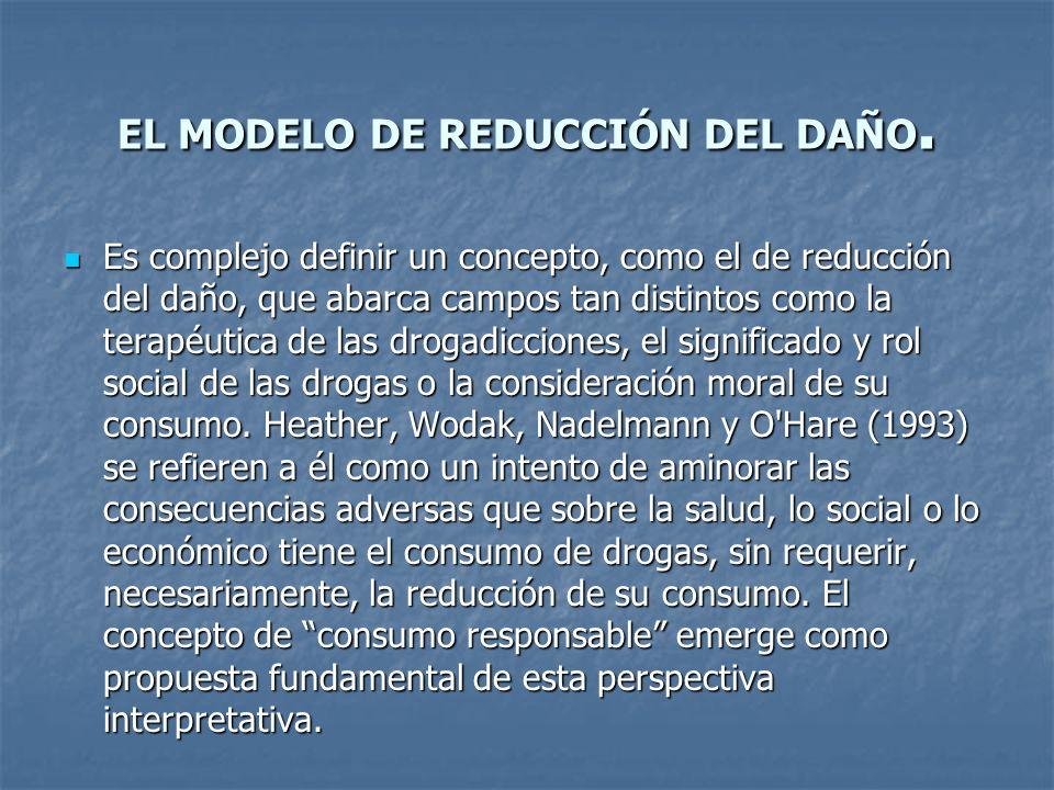 EL MODELO DE REDUCCIÓN DEL DAÑO.