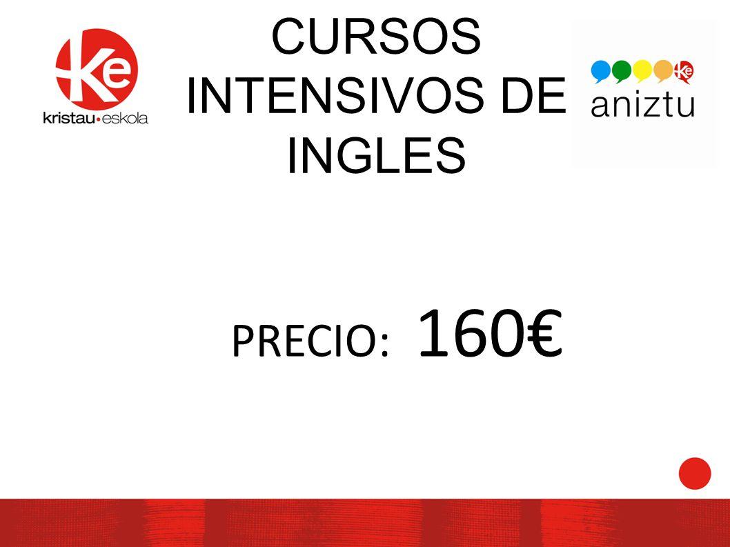 CURSOS INTENSIVOS DE INGLES