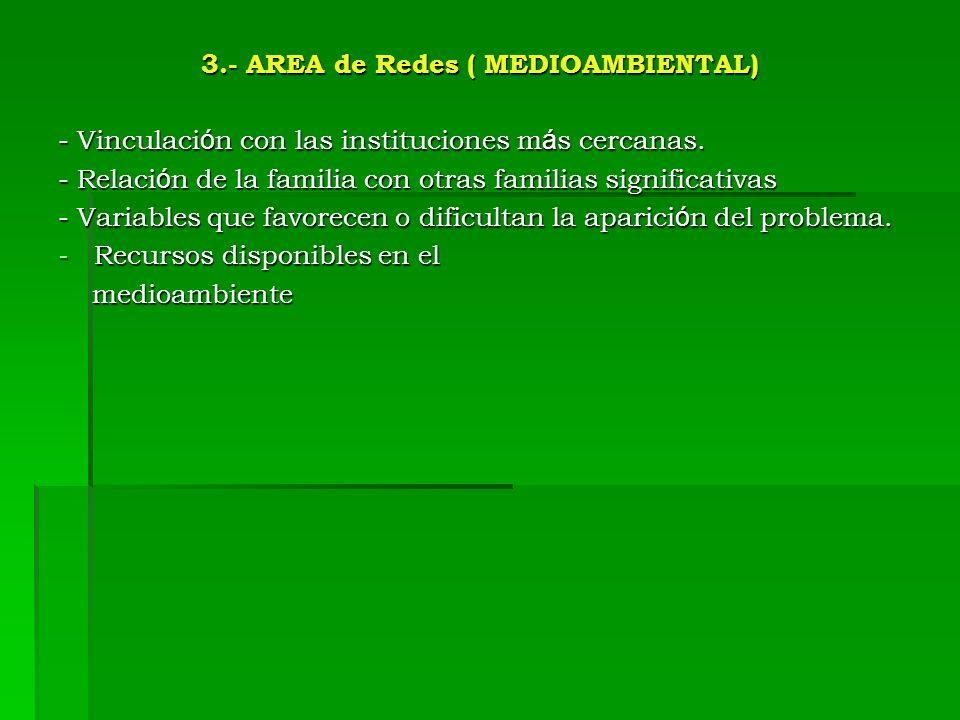 3.- AREA de Redes ( MEDIOAMBIENTAL)