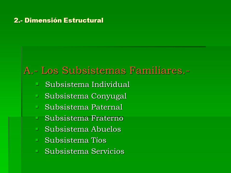 2.- Dimensión Estructural