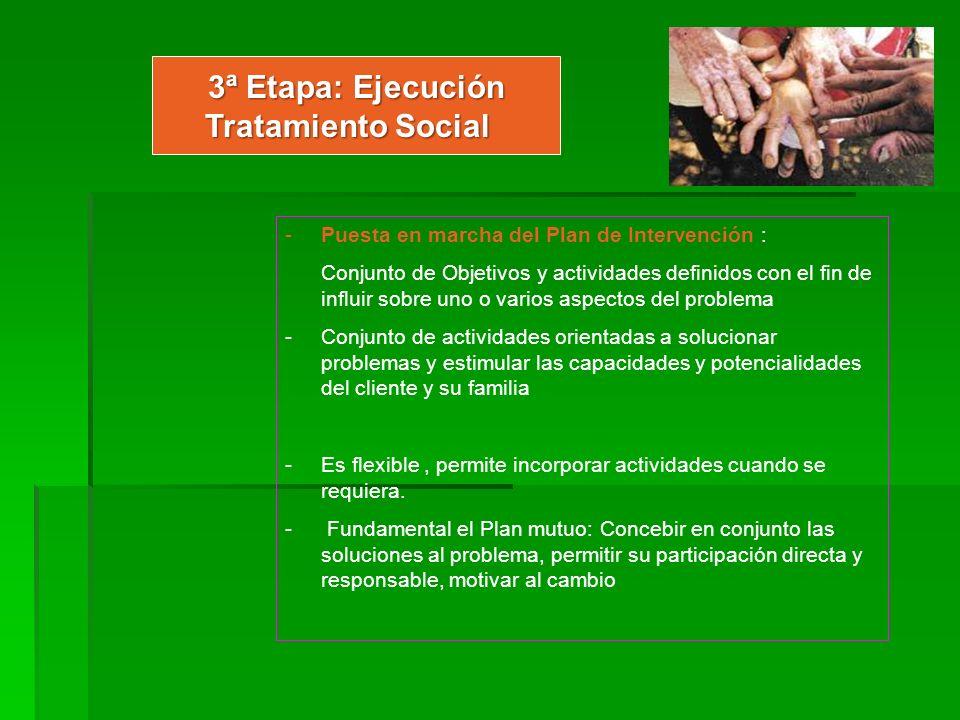3ª Etapa: Ejecución Tratamiento Social