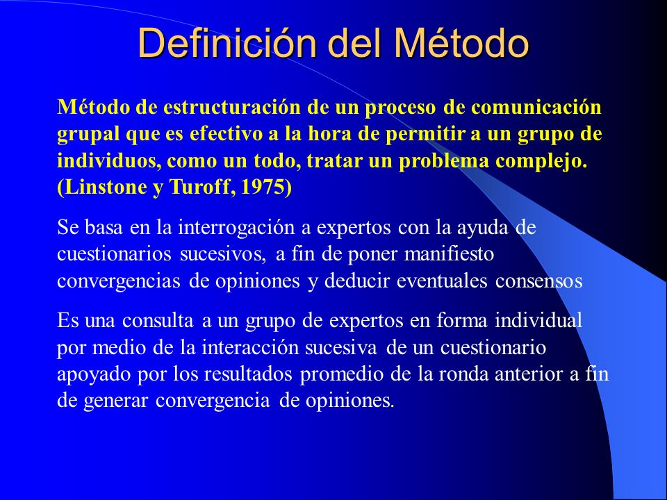 Definición del Método