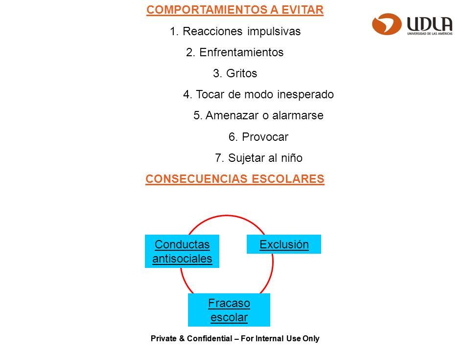 COMPORTAMIENTOS A EVITAR CONSECUENCIAS ESCOLARES