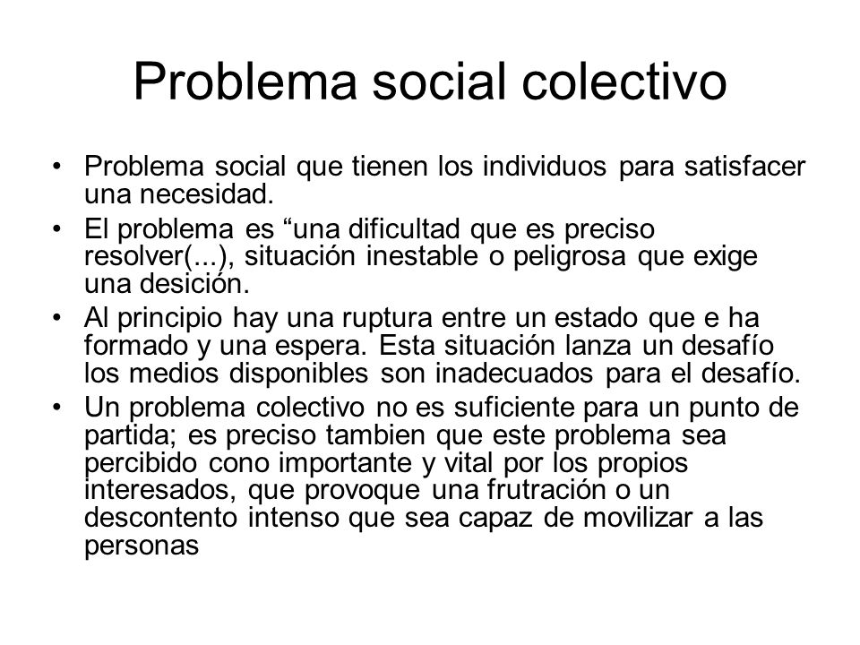 Problema social colectivo