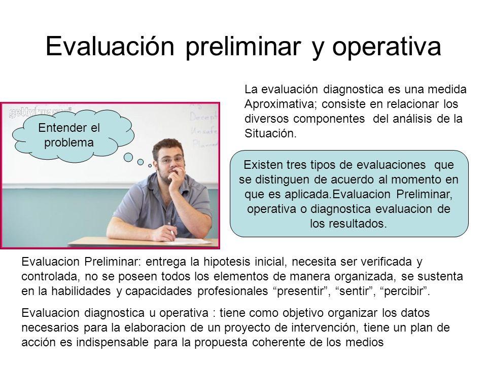 Evaluación preliminar y operativa