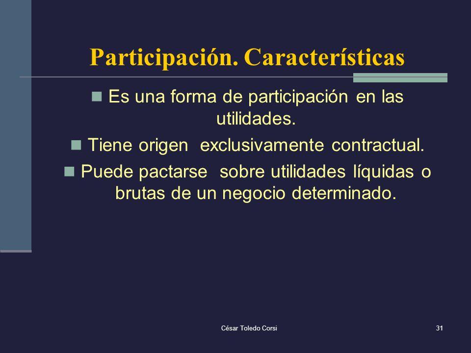 Participación. Características