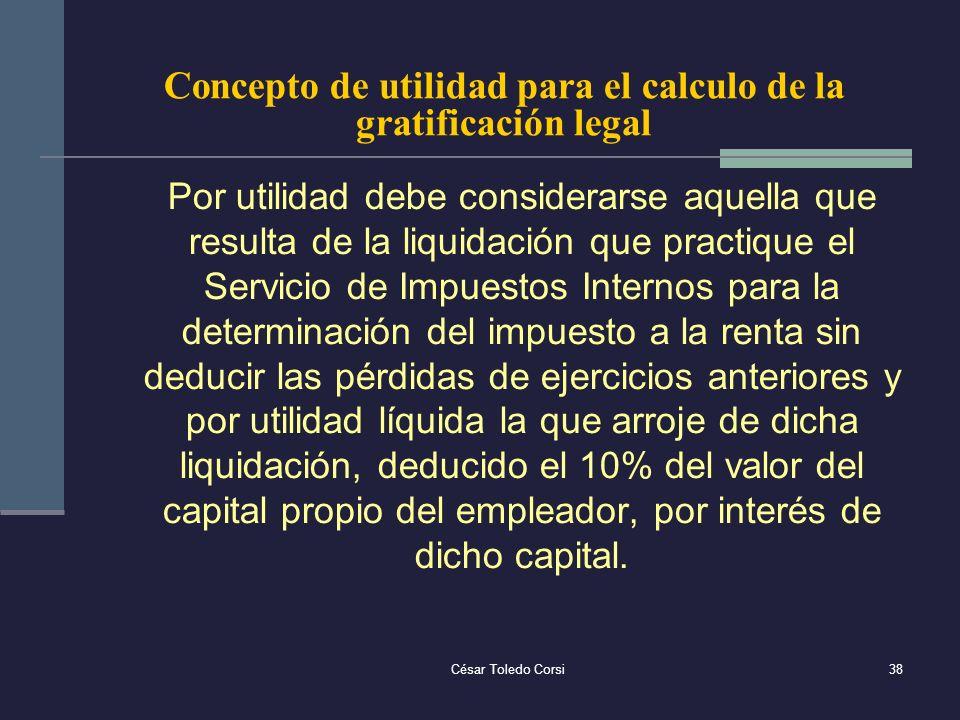 Concepto de utilidad para el calculo de la gratificación legal