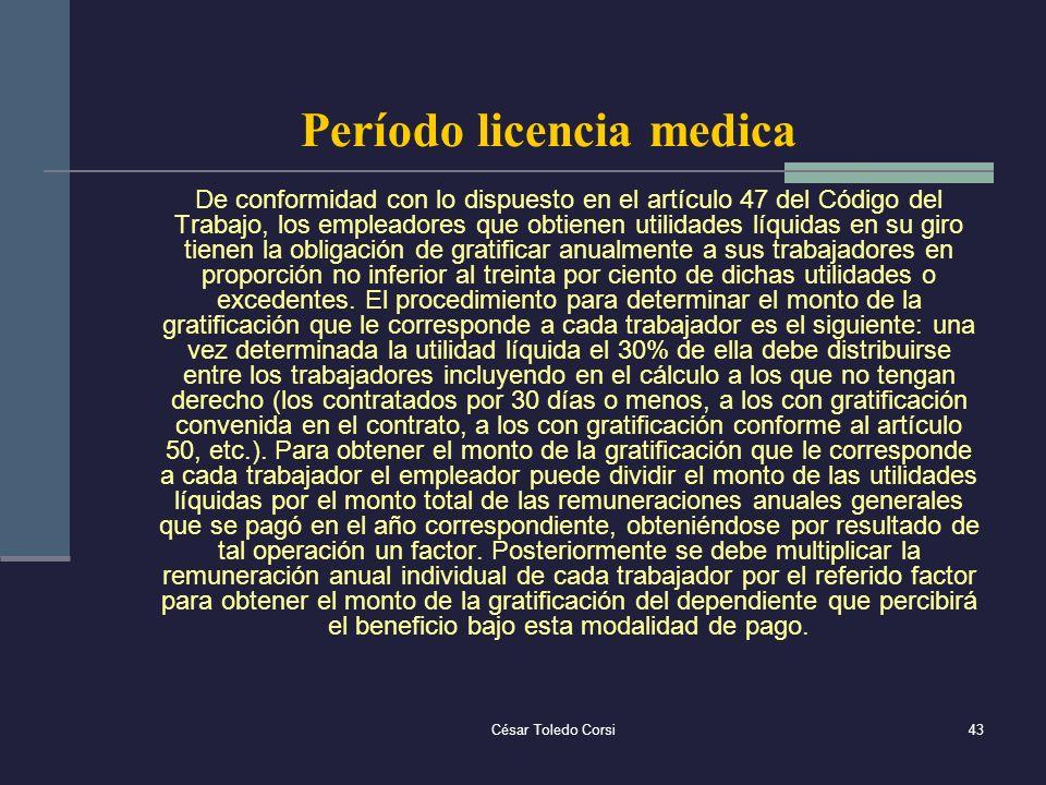 Período licencia medica