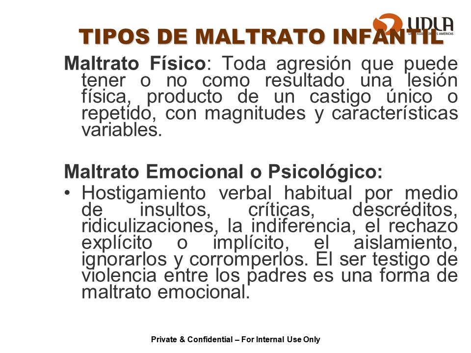 TIPOS DE MALTRATO INFANTIL