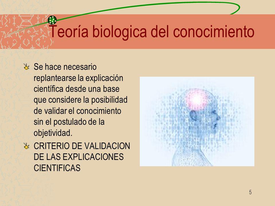 Teoría biologica del conocimiento