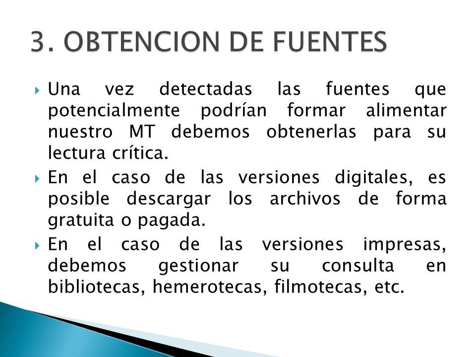3. OBTENCION DE FUENTES