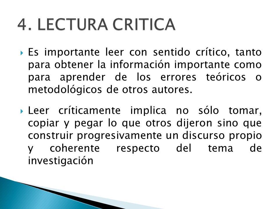 4. LECTURA CRITICA