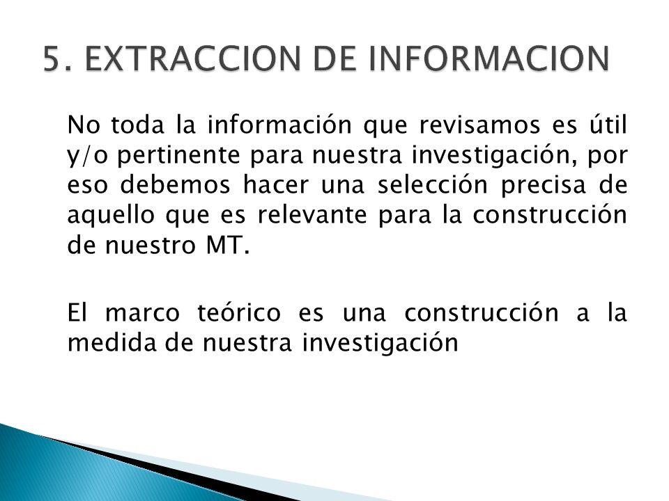 5. EXTRACCION DE INFORMACION