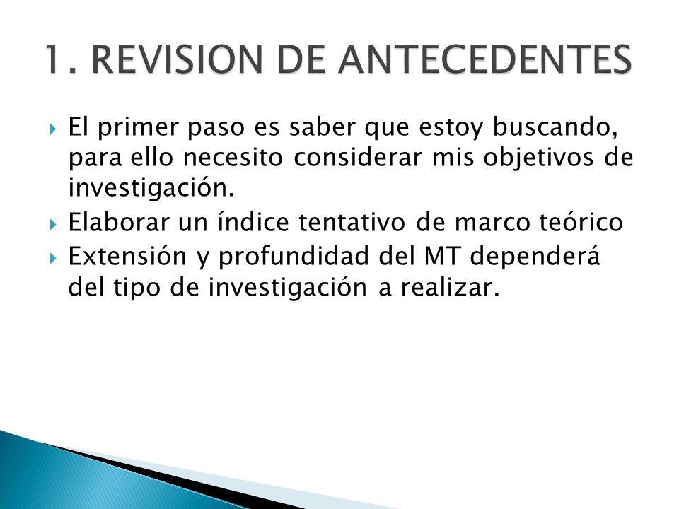 1. REVISION DE ANTECEDENTES