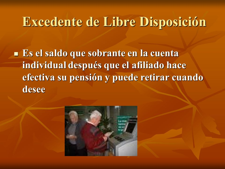 Excedente de Libre Disposición