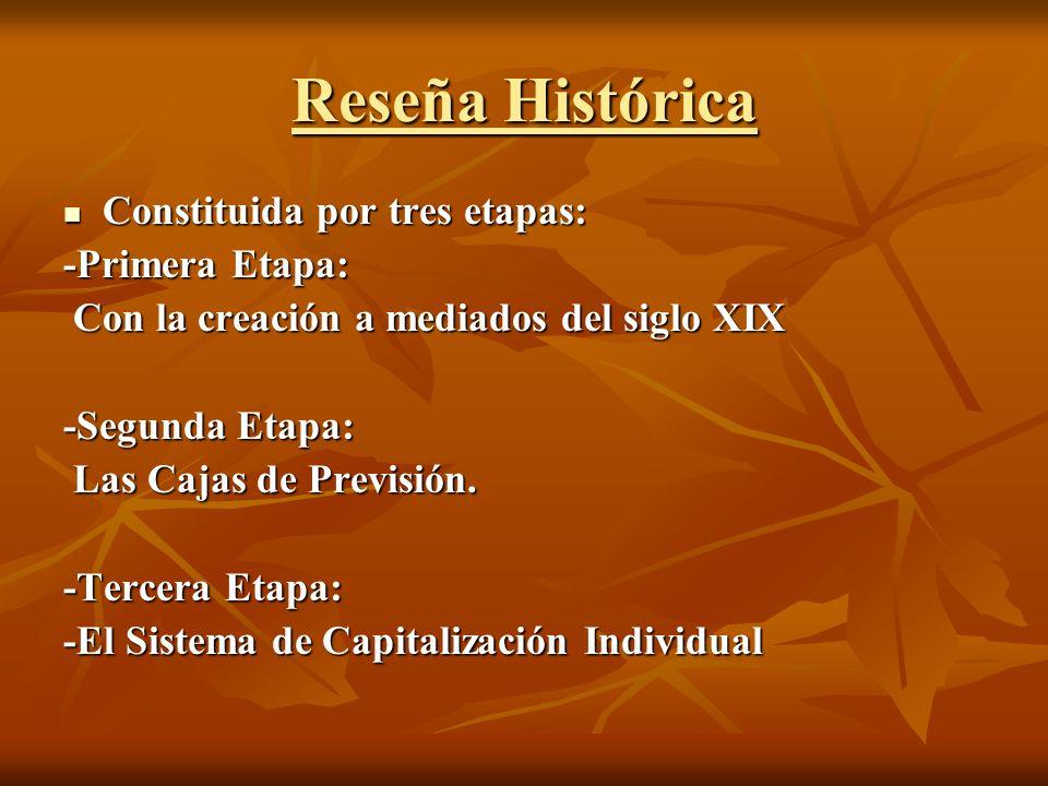 Reseña Histórica Constituida por tres etapas: -Primera Etapa: