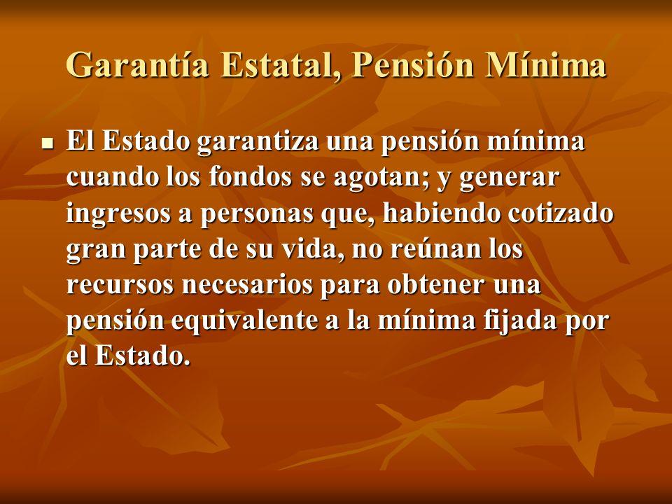 Garantía Estatal, Pensión Mínima