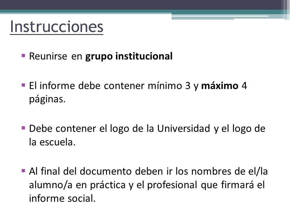 Instrucciones Reunirse en grupo institucional