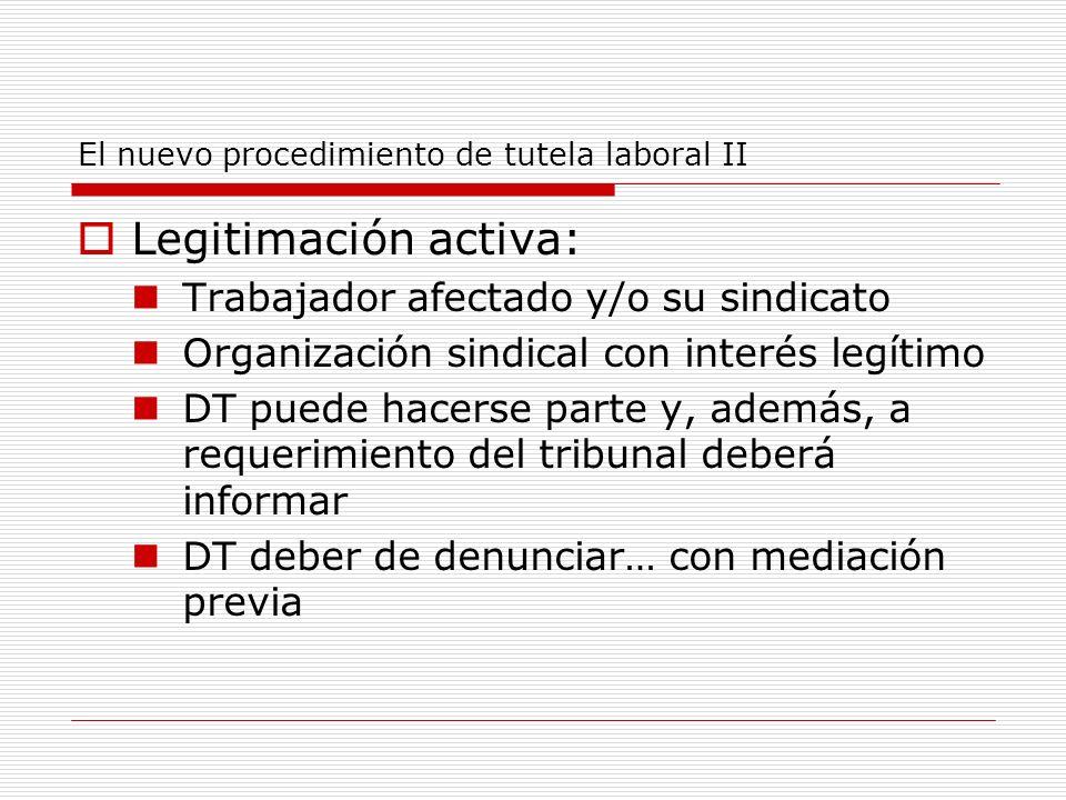 El nuevo procedimiento de tutela laboral II