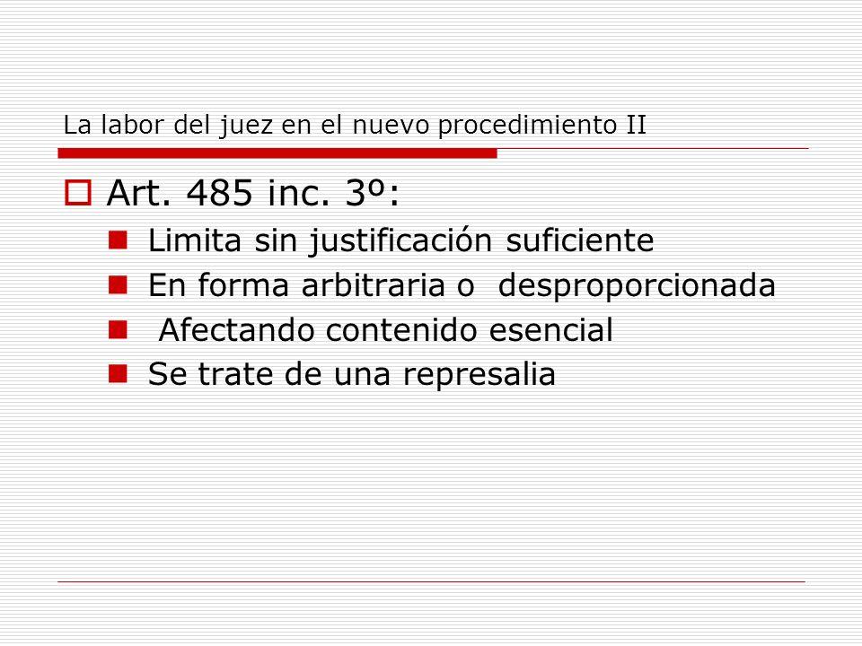 La labor del juez en el nuevo procedimiento II