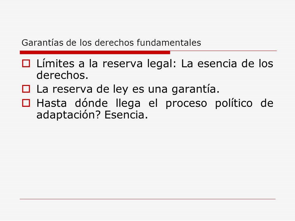 Garantías de los derechos fundamentales