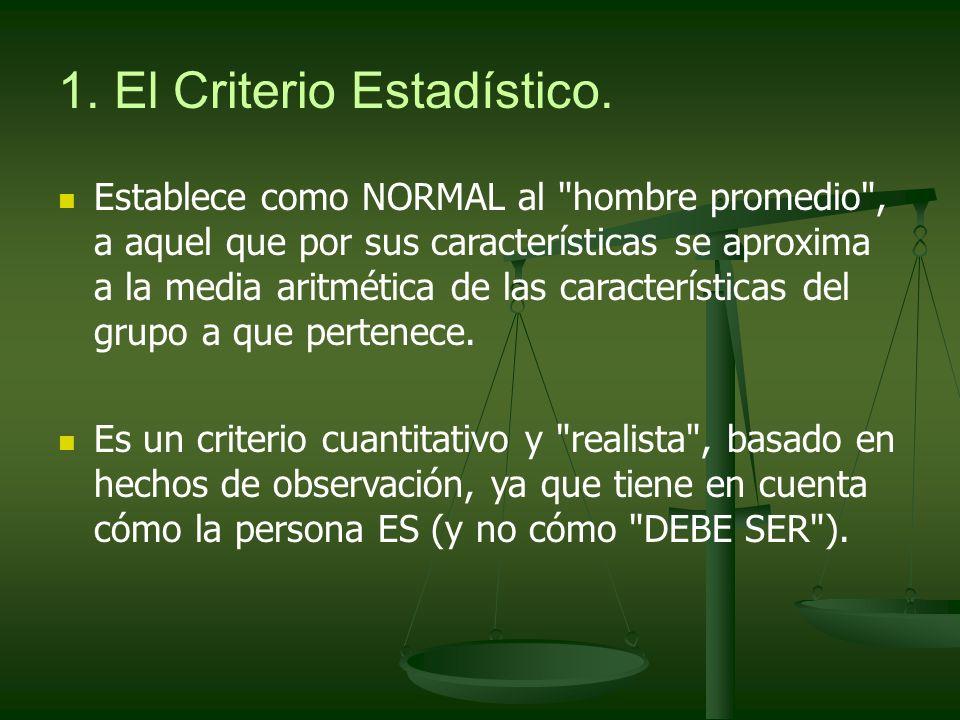 1. El Criterio Estadístico.