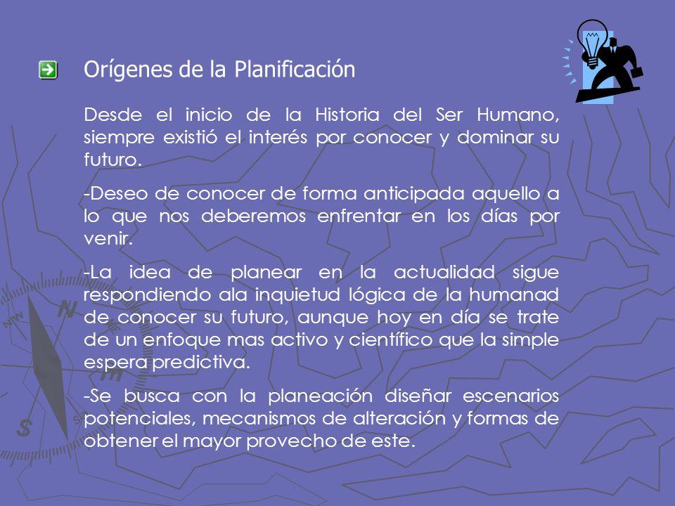 Orígenes de la Planificación