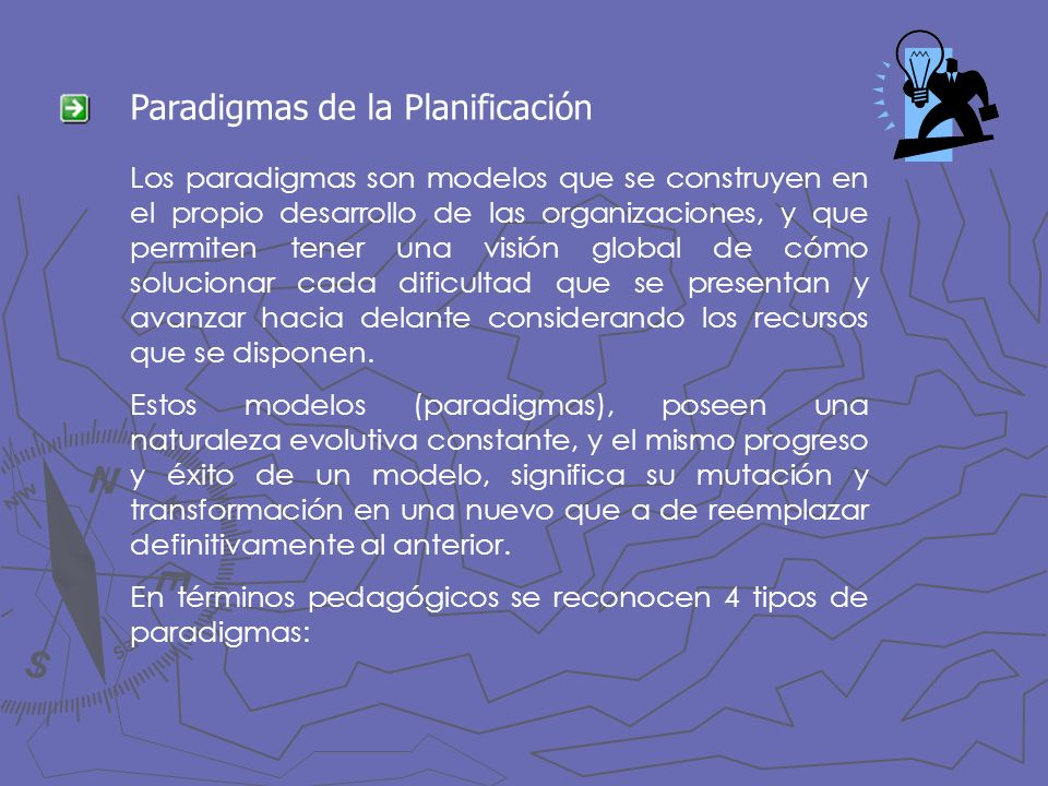 Paradigmas de la Planificación