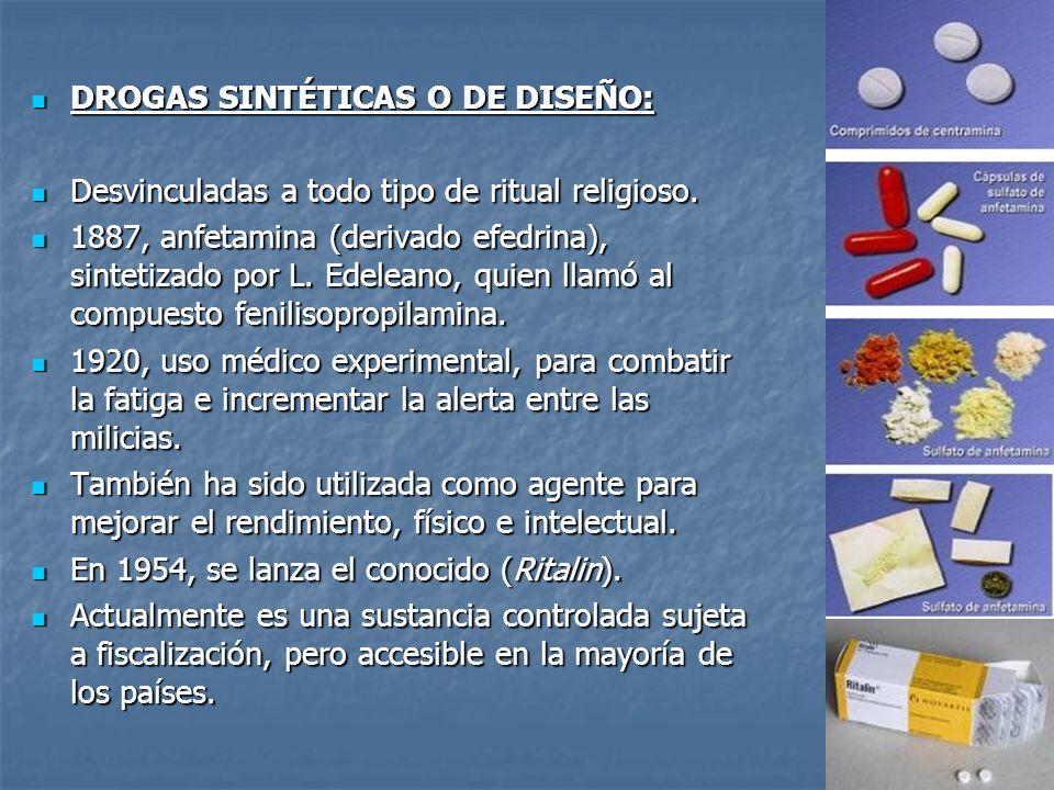 DROGAS SINTÉTICAS O DE DISEÑO: