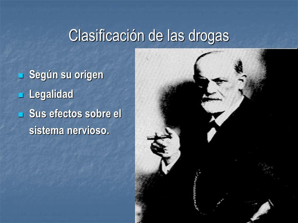 Clasificación de las drogas