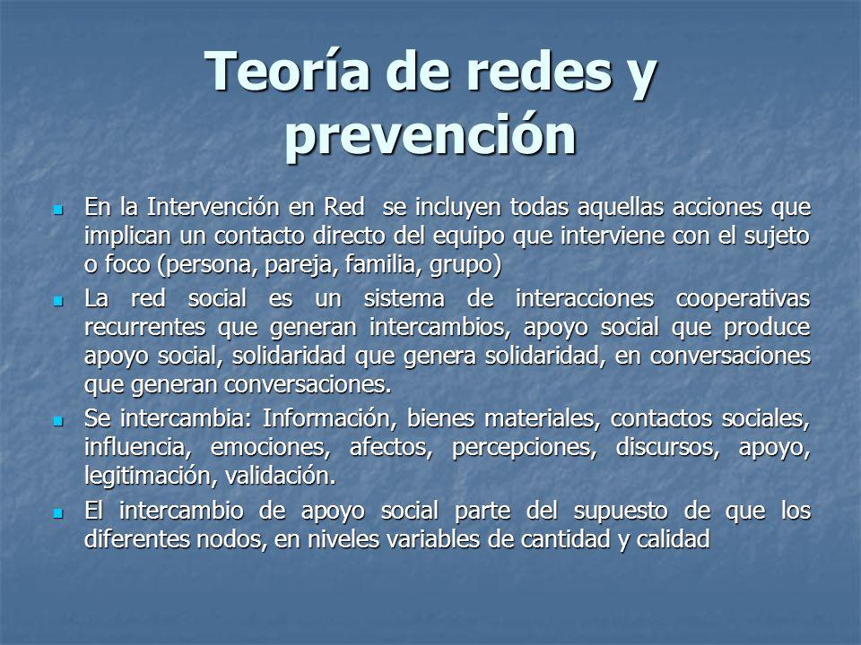 Teoría de redes y prevención