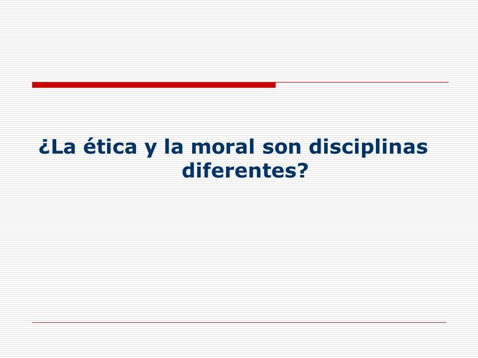 ¿La ética y la moral son disciplinas diferentes