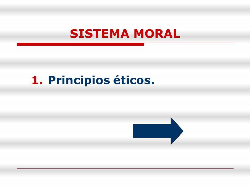 SISTEMA MORAL Principios éticos.