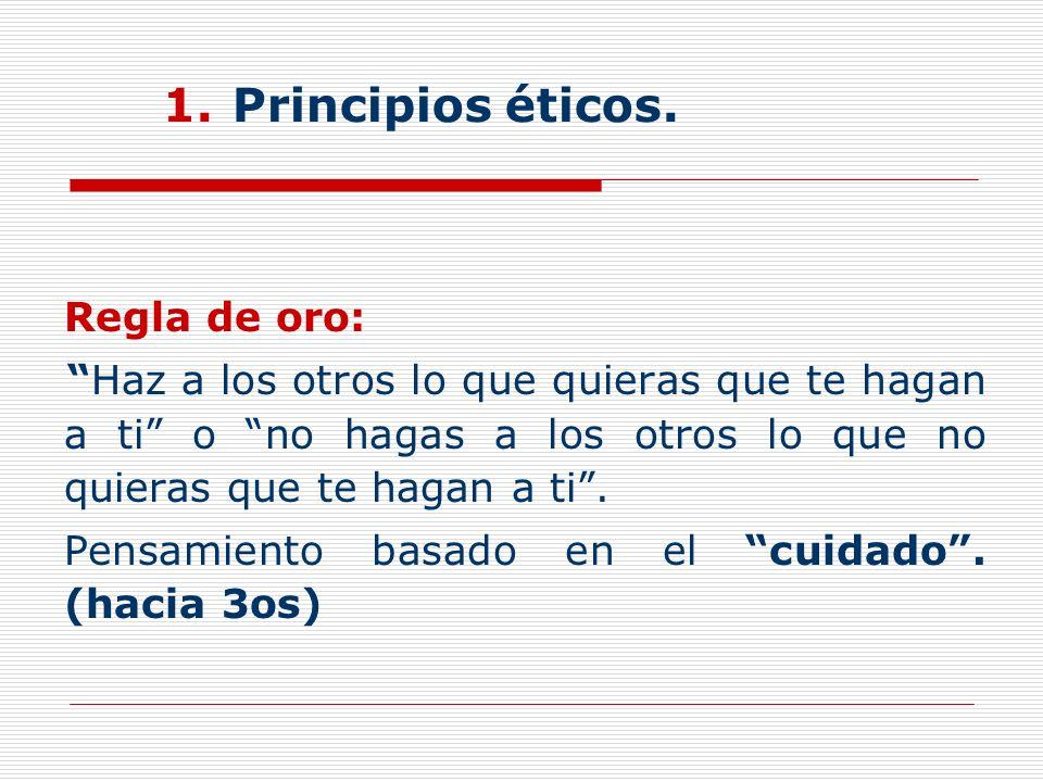 Principios éticos.