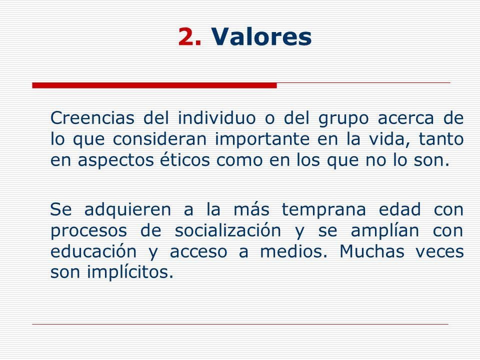 2. Valores