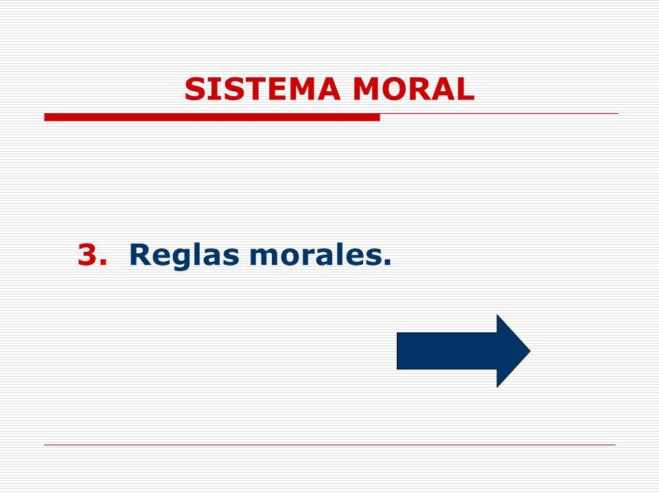 SISTEMA MORAL 3. Reglas morales.