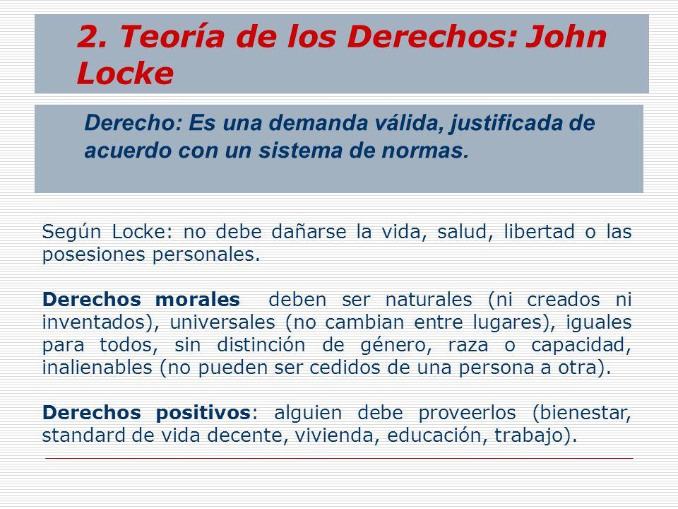2. Teoría de los Derechos: John Locke
