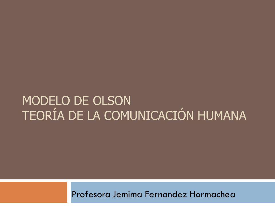 Modelo de Olson Teoría de la comunicación Humana