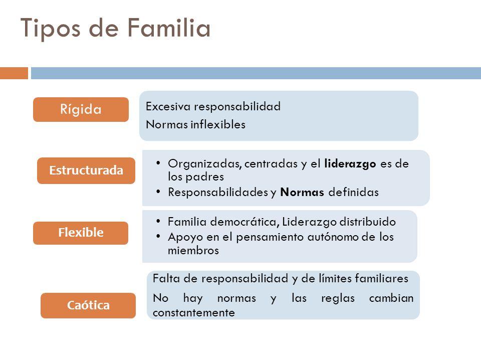 Tipos de Familia Estructurada