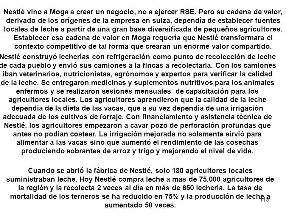 Nestlé vino a Moga a crear un negocio, no a ejercer RSE