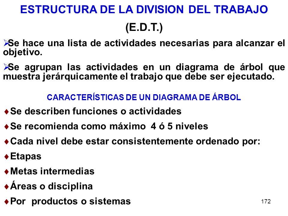 ESTRUCTURA DE LA DIVISION DEL TRABAJO (E.D.T.)